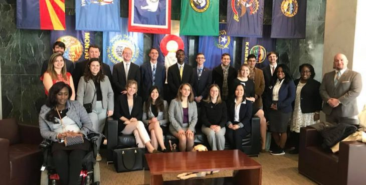 MISSISSIPPI STATE'S STENNIS MONTGOMERY ASSOCIATION STUDENTS VISIT WITH LEADERS IN WASHINGTON
