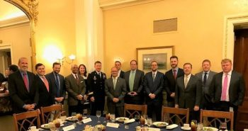SENATE STAFF PARTICIPATE IN A DINNER DISCUSSION WITH THE VICE CHIEF OF STAFF OF THE ARMY GENERAL JAMES MCCONVILLE