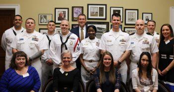 USS VINSON AND USS EISENHOWER LEADERSHIP AWARDEES VISIT WASHINGTON