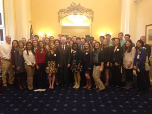 MSU Presidential Scholars Visit D.C. March 2015